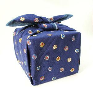 風呂敷 大判 90cm 宝尽くし 紺 いせ辰 綿100% 江戸千代紙 ふろしき 重箱 風呂敷バッグ エコバッグ 包み 和風 おしゃれ 日本製