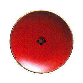 【ポイント5倍】 銘々皿 朱菱 秀衡塗 5枚 【送料無料】木製 漆器 菓子皿 和菓子 取分け皿