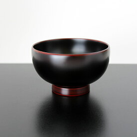 汁椀 京型 溜塗り 梶原作 木製 お椀 漆器
