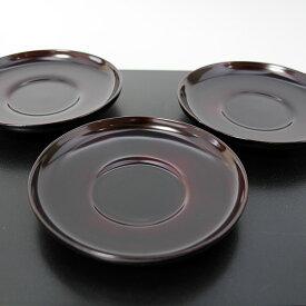 茶托 だるま 溜塗り 5枚 茶たく コースター 木製 漆器 漆塗り