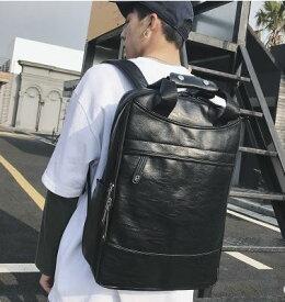 リュック メンズ 大容量 レザー 大きめ 2way デイバッグ バッグパック ビジネスリュック 通勤 通学 旅行 カジュアル bag021