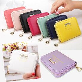 コインケース レディース 財布 軽量 大容量 リボン ミニ財布 カードケース 小型財布 旅行 通勤 通学 可愛い ラウンドファスナー bag104