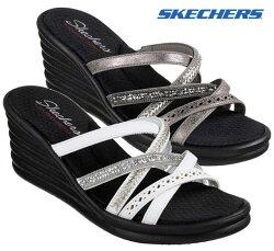 スケッチャーズSKECHERS31777RUMBLERWAVE-NEWLASSIEウエッジソールサンダルレディース婦人WHTPEW靴