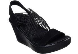 送料無料 [沖縄、離島除く] スケッチャーズ SKECHERS 33473 RUMBLE UP - CLOUD CHASER ウエッジサンダル 厚底サンダル レディース 婦人 BBK ブラック 靴