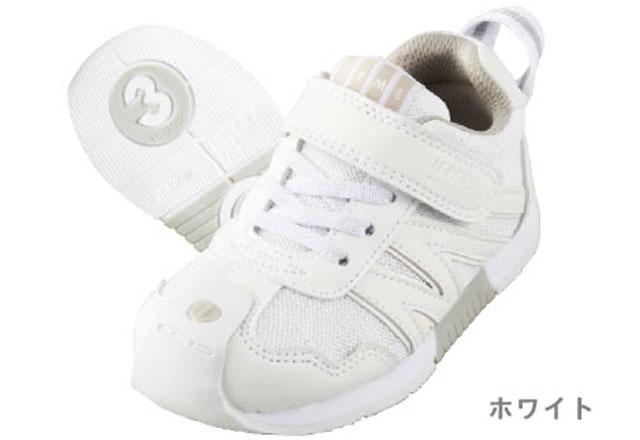 送料無料 イフミー IFME 5711 子供 キッズ スニーカー ジュニア 通園 通学 スクール ホワイト ブラック 白 黒 靴