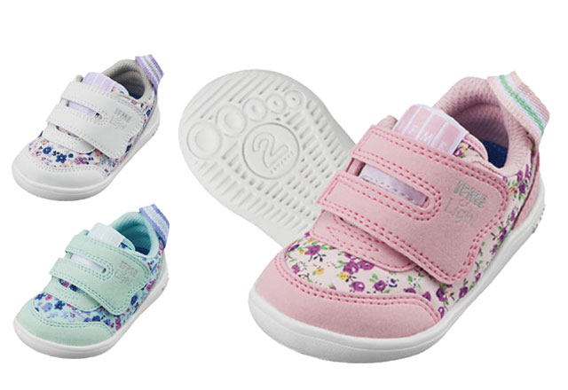 送料無料 イフミーライト 22-9024 IFME Light ベビースニーカー ベビーシューズ 子供 赤ちゃん 女の子 軽量 ピンク ホワイト ミント 靴