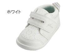 送料無料イフミーカランIFMECALIN22-9706ベビーシューズスニーカーベビー子供レースホワイトブラック靴