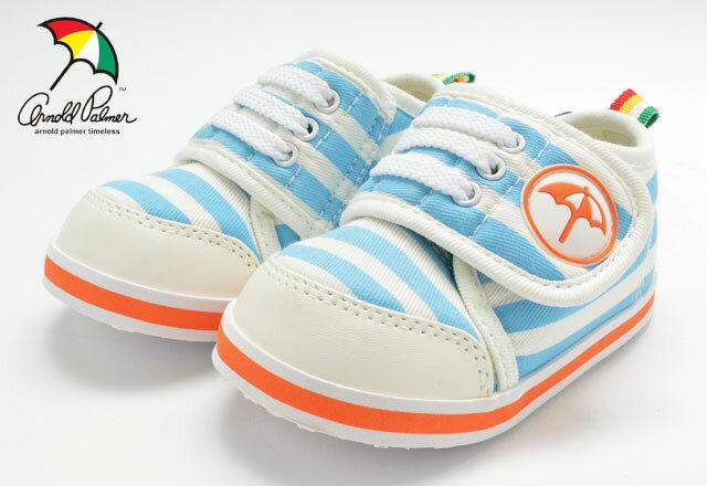送料無料 アーノルドパーマー AP0118 ベビー スニーカー 赤ちゃん 子供 子ども こども 靴 BABY ARNORD PALMER 118 ブルー ストライプ セール SALE
