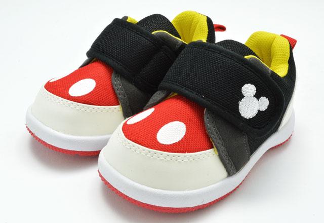 送料無料 ディズニー Disney DS0180 ベビー スニーカー ファーストシューズ ミッキー 赤ちゃん 子供 ブラック 靴 セール SALE