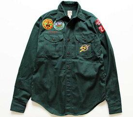 50s BSA EXPLORERS ボーイスカウト パッチ付き コットンシャツ 13.5【レディース】【メンズ】【ユニセックス】【ワッペン】【ビンテージ】【USA製】【アメリカ】【古着】【中古】