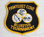 デッドストック★ビンテージ PAWTUXET COVE BLUEFISH TOURNAMENT パッチ【ワッペン】【メンズ】【レディース】【オールド】【ビンテージ】【フィッシング】【アウトドア】【釣り】【USA製】【アメリカ】【古着】【中古】