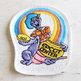 80s EPCOT CENTER エプコット フィグメント ドラゴン パッチ【ワッペン】【メンズ】【レディース】【オールド】【ビンテージ】【Disney】【ディズニー】【Walt Disney World】【】【キャラ】【アニメ】【USA製】【アメリカ】【古着】【中古】