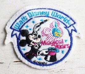 ビンテージ Walt Disney World 20 Magical years ミッキー 【ワッペン】【メンズ】【レディース】【オールド】【ビンテージ】【Disney】【ディズニー】【マウス】【20周年】【キャラ】【アニメ】【USA製】【アメリカ】【古着】【中古】