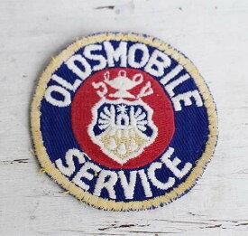 ビンテージ OLDSMOBILE SERVICE パッチ 【ワッペン】【メンズ】【レディース】【オールド】【ビンテージ】【モーター】【企業】【アメリカ】【古着】【中古】