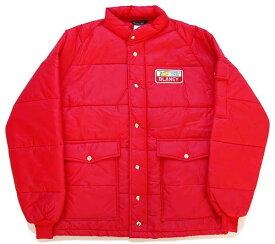 70s Swingster BLANEY パッチ付き 中綿入り ナイロン レーシングジャケット 赤 L【メンズ】【ビンテージ】【モーター】【ワッペン】【オイル】【ガレージ】【オーバーサイズ】【ビッグサイズ】【USA製】【アメリカ】【古着】【中古】
