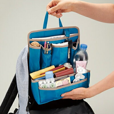 リュックインバッグ リュックの中の整理ポケット バッグインバッグ インナーバッグ インナーポケット メール便 送料無料