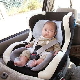 クールでドライな清涼チャイルドシートパッド ギンガムチェック仕様 チャイルドシート用汗取りパッド ベビーカー用背あてパッド メール便 送料無料
