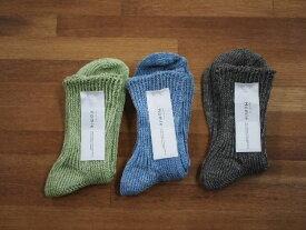 Homie ホミー リネンショートソックス レディース 靴下 全4色 Sage Aqua Charcoal Natural フリーサイズ 日本製