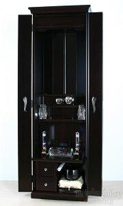 創価学会家具調仏壇ベスト/黒檀・電動厨子扉・LED【無料でお部屋まで設置します】