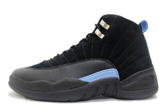 new product a853d d3bed NIKE AIR JORDAN 12 RETRO NUBUCK 130690-018 Nike Air Jordan 12 retro nubuck  black / light blue