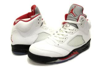 NIKE AIR JORDAN 5 RETRO FIRE RED 136027-100 silver tongue fire red Nike Air Jordan 5 retro
