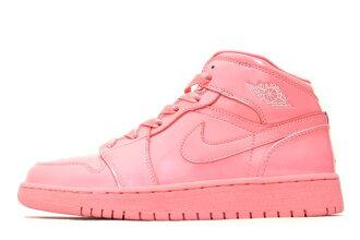 NIKE AIR JORDAN 1 MID ICY PACK PINK 322678-661 Nike Air Jordan 1 mid icy Pack Pink ladies GS