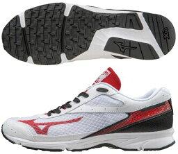 美津濃跑步鞋mizuno RUSH UP2 J1GA168363白×紅×黑色田徑馬拉松訓練鞋