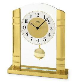 【正規輸入品】ドイツ アームス AMS 1117 クオーツ 置き時計 (置時計) 振り子つき ゴールド 【記念品 贈答品に名入れ(銘板作成)承ります】【熨斗印刷承ります】