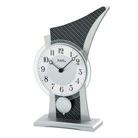 【正規輸入品】ドイツ アームス AMS 1140 クオーツ 置き時計 (置時計) 振り子つき カーボンブラック 【記念品 贈答品に名入れ(銘板作成)承ります】【熨斗印刷承ります】