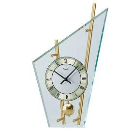 【正規輸入品】ドイツ アームス AMS 155 クオーツ 置き時計 (置時計) 振り子つき ゴールド 【記念品 贈答品に名入れ(銘板作成)承ります】【熨斗印刷承ります】[送料区分(大)]