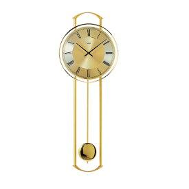 【正規輸入品】ドイツ アームス AMS 7083 真鍮クオーツ 掛け時計 (掛時計) 振り子つき ゴールド 【記念品 贈答品に名入れ(銘板作成)承ります】【熨斗印刷承ります】[送料区分(大)]