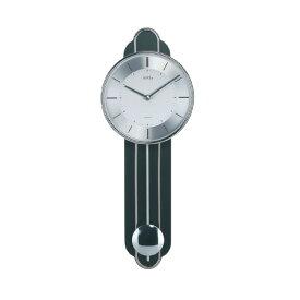 【正規輸入品】ドイツ アームス AMS 7317 クオーツ 掛け時計 (掛時計) 振り子つき ブラック 【記念品 贈答品に名入れ(銘板作成)承ります】【熨斗印刷承ります】[送料区分(大)]