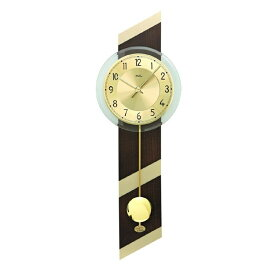 【正規輸入品】ドイツ アームス AMS 7412 クオーツ 掛け時計 (掛時計) 振り子つき ブラウン×ゴールド 【記念品 贈答品に名入れ(銘板作成)承ります】【熨斗印刷承ります】[送料区分(大)]