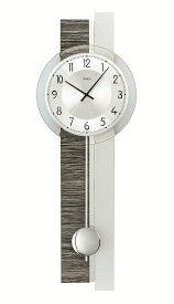 【正規輸入品】ドイツ アームス AMS 7439 クオーツ 掛け時計 (掛時計) 振り子つき グレー木目 【記念品 贈答品に名入れ(銘板作成)承ります】【熨斗印刷承ります】[送料区分(大)]