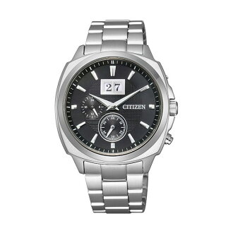 Citizen collection eco-drive big date silver / black mens watch BT0080-59E
