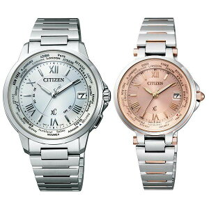 (長期保証5年付)ペアウォッチシチズンCITIZENクロスシーエコ・ドライブ電波時計ハッピーフライトシルバー×ピンクペア腕時計CB1020-54A/EC1014-65W
