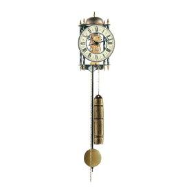 【正規輸入品】ドイツ ヘルムレ HERMLE 70503-000701 機械式掛け時計 ロートアイアン ブラック×ゴールド [送料区分(大)]