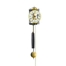 【正規輸入品】ドイツ ヘルムレ HERMLE 70731-000711 機械式掛け時計 ブラック×ゴールド [送料区分(大)]