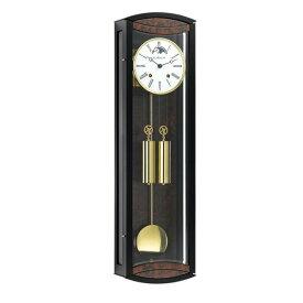 【正規輸入品】ドイツ ヘルムレ HERMLE 70968-030058 機械式掛け時計 ブラック×バール杢 [送料別途お見積り][送料区分(大)]