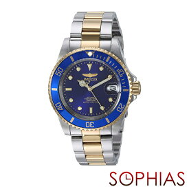 INVICTA インビクタ メンズ腕時計 8928OB PRO DIVER プロダイバー 自動巻 ブルー×ゴールド 【長期保証3年付】