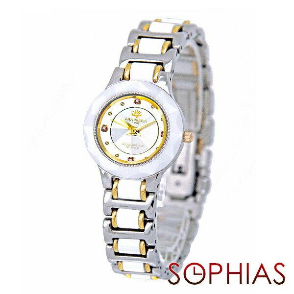 ジョン・ハリソン J.HARRISON JH-CCL001WH クォーツ 天然ルビー付 セラミック ホワイト レディース腕時計