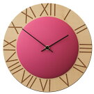 イタリア・ピロンディーニPirondini木製掛け時計Ettore015ピンク