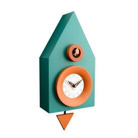 【正規輸入品】 イタリア ピロンディーニ 114-GREEN Pirondini 木製鳩時計 Dark 114 グリーン