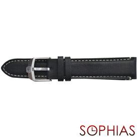 スイスミリタリー 純正 腕時計 替えベルト ファントム クロノ ブラック レザー 20mm幅