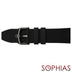 スイスミリタリー 純正 腕時計 替えベルト トゥワイライト ブラック 24mm幅
