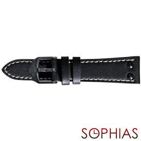 スイスミリタリー 純正 腕時計 替えベルト アンダーカバー ブラック 22mm幅