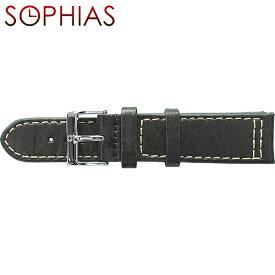 スイスミリタリー 腕時計 純正 替えベルト アドバンス レザー メンズ ブラック 22mm幅