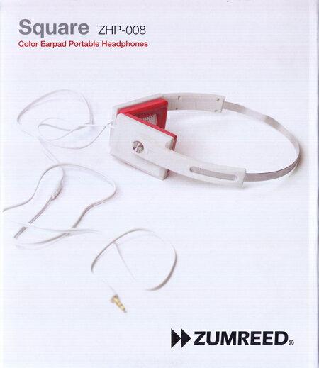 ZUMREED ズムリード Square ZHP-008 Color Earpad Portable Headphones 【White】【RCP】【訳あり品】【RCP】【ヘッドフォン/音楽/新品/SORA】【RCP】