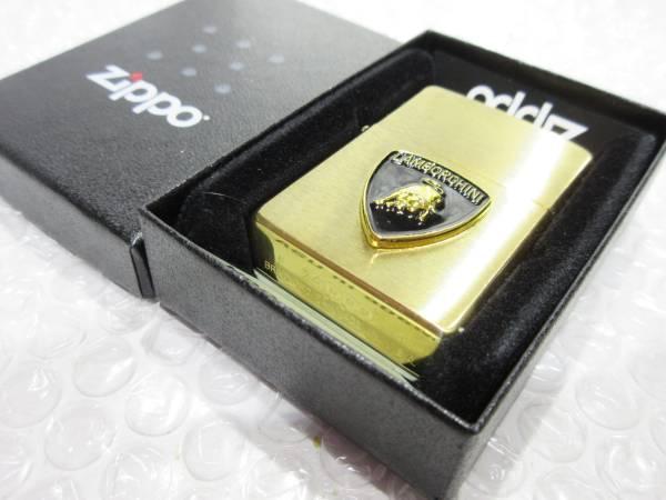 ランボルギーニ Zippo/真鍮製ジッポライター 【ブラック】