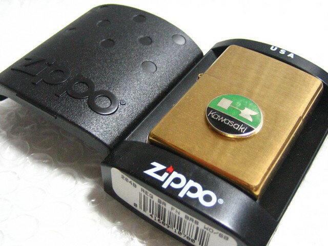 カワサキ Zippo 真鍮製ジッポライター/ゴールド Kawasaki